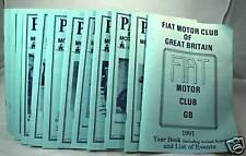 Parliamo - Fiat Motor Club (GB) Magazine -1991 Full Set
