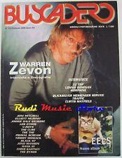 BUSCADERO 210 Warren Zevon Curtis Mayfield Joni Mitchel Elliot Murphy NO cd  *