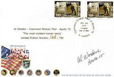 AL WORDEN Signed Ltd Ed FDC APOLLO 15 Moon Landing COA