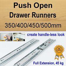 Push Open Cabinet Cupboard Kitchen Vanity Drawer Runners / Slides
