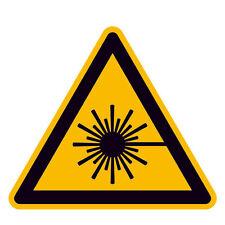 Warnung vor Laserstrahl / Warnschild / Alu oder Folie / Laser Warnung