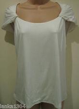 Minuet Ivory cap sleeve stretch Top tshirt (NEW) UK size 20 Petite £45.00