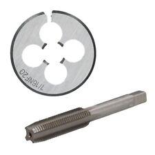 """1/4"""" - 5/8"""" UNF Tap & Die Tungstène Acier Conique Et 38 mm Split Die"""