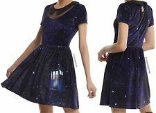 Doctor Who Galaxy TARDIS High Fashion Velvet Dress For Juniors FREE USA SHIP