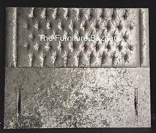 Lipped Chesterfield Floor Standing Upholstered Headboard 3ft, 4'6, 5ft, 6ft