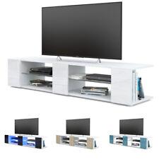 Meuble TV Armoire basse Movie V2 en Blanc - Façades en coloris divers