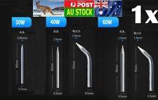 .1x Replaceable Electronic Soldering Iron Tips Head Welding Gun 30W 40W 60W AU