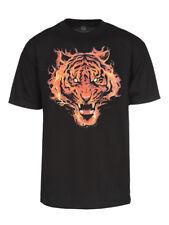 Mens Flaming Tiger Short-Sleeve T-Shirt
