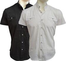 Brandneu ! Designer Kurzarm Hemd mit Stehkragen von CARISMA in Weiß oder Schwarz