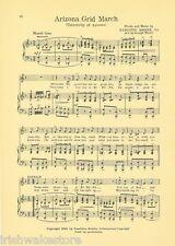 "UNIVERSITY OF ARIZONA songs c 1927 ""All Hail, Arizona!"" & ""Arizona Grid March"""