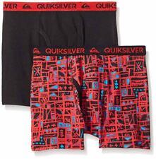 Quiksilver Boys Black & Red Print 2pk Boxer Briefs Size 4/5 6/7 $18