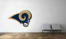 Los Angeles Rams Logo Wall Decal NFL Football Decor Sport Mural Vinyl Sticker