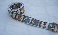 Elephant Childrens belt handmade adjustable kids d ring velcro lion jungle zebra