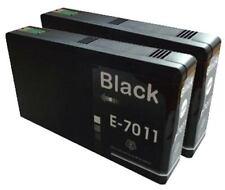 2x NERO COMPATIBILE (NON OEM) Cartucce di inchiostro per sostituire t7011 PIRAMIDE inchiostro