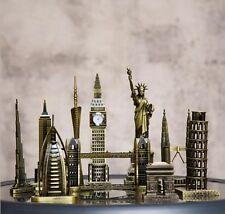 Handmade Retro Famous Building Home Decor Table Ornament Statue Metal