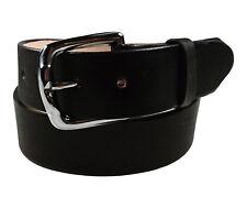 "Men's Heavy Duty Leather Belt Anca de Potro 1 3/4"" Wide Black Cinto Fino"