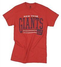 New York Giants NFL Football Men's Fundamentals Logo T-Shirt Tee Top, Red