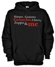 Felpa cappuccio KM116 Fratelli Marx Harpo Gummo Groucho Chico Zeppo & me hoodie