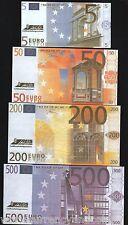 EURO AUSTRIA BELGIUM 5 10 20 50 100 200 500 ECU EUROS SOUVENIR MONEY UNC 7v SET