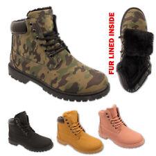 Suela Agarre Con Cordones Invierno señoras Senderismo Mujeres Botas Zapatos para caminar ejército de Combate Talla