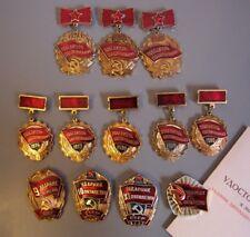 Abzeichen Medaille Orden Aktivist Bestarbeiter Jahresplan UdSSR Wettbewerb СССР