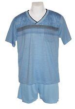 Herren Schlafanzüge Pyjamas hellblau  kurze Hose  Größenauswahl