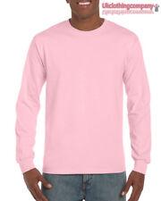 Light Pink Adult Gildan Long Sleeve Ultra Cotton t-shirt-Mens Tops s m l xl 2xl