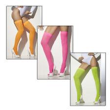 Neon Overknees, Disco Party Overknee, Stockings Neonparty, Thigh Highs Strümpfe