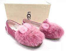 UGG Australia Pinkipuff Hailey Pink Azul Fluff Squad Flats Shoes Girls Youth