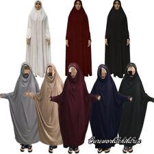 Muslim Arab Full Length Abaya One Pieces Overhead Hijab Prayer Kaftan Robe Dress