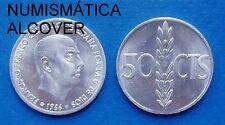 MONEDA DE 50 centimos 1966  *73 Franco S/C - Spain km#795 UNC