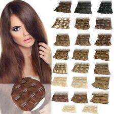 Clip In Extensions 7 Haarteile 70 g Set 35 cm Echthaar Haarverlängerung Tressen