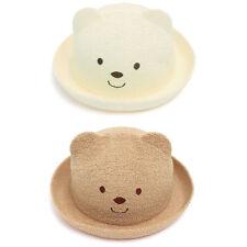 Kids Boys Girls Toddler Infant Baby Bear Fedora Trilby Cap Bowler Hamburg Hats