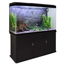 Aquarium à bords Noir avec Meuble de support Noir, Kit de Démarage