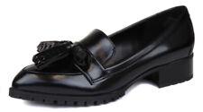 Nine West Women's Black Leonda Tassle Loafer Shoes Ret $99 New