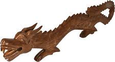 Holzfigur Holzstatue Drachen Drachenstatue Statue Holzdrache Chinesischer Drache
