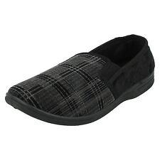 UOMO M.S.20 nero e grigio tessuto Pantofole da QUALITY slippers retail