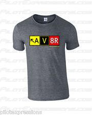 Airport Taxiway Sign Aviation T-Shirt! Aviator AV8R Pilot Shirts! Pilot Gifts!