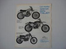 advertising Pubblicità 1970 MOTO ITALJET 100 CROSS/175 CROSS/CZ 360 MC