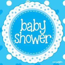 Baby Shower Festa Tovaglioli | BOY BLUE CUORI 33 cm Carta Tovaglioli Festa