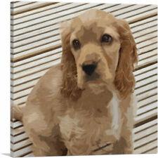 Artcanvas American Cocker Spaniel Dog Breed Lines Canvas Art Print