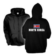 Kapuzenjacke NORDKOREA North Korea Flagshirt Hoodie Sweatjacke S-6XL WMS02-43e