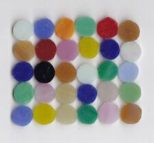 30 Tiffany-Glas Mosaiksteine rund Mosaik 1cm Buntmix
