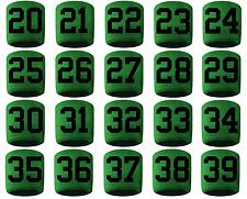 #20-39 Number Sweatband Wristband Football Baseball Basketball Green Black