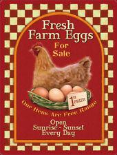 Fresh Farm Eggs FOR SALE-Métal Mural Signe (3 tailles-petites/grandes et Jumbo)