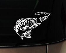 Bass Fishing Fish Bones Car Boat Decal Vinyl Sticker Hunting Fishing iPad Window