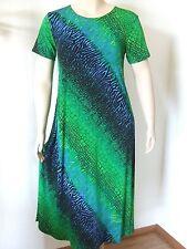 Travel Knit Dress, Long A-Line Short slv, NEW, stretchy wash&wear poly/span #182