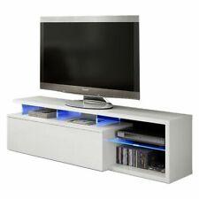Mobile per soggiorno Modulo TV per salotto Blue-tech con LED, Bianco Lucido