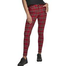 Urban Classics Ladies - TARTAN Skinny Hose rot