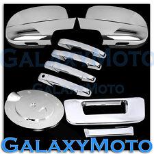 07-13 Chevy Silverado Chrome Mirror+4 Door Handle+Tailgate no KH CM+Gas Cover